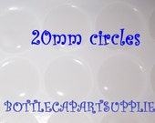 50 pc 20mm Clear Epoxy Resin Adhesive Round Circle Sticker Seals