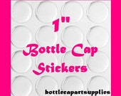 100 pc Clear 1 INCH Epoxy Adhesive Resin Dome Circles Bottle Cap Seals Stickers.