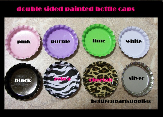 100 Color Mix DOUBLE SIDED Painted Linerless Bottle Cap Lot .Brand New Crown Caps, You Choose the Colors