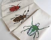 Beetle Napkins, Cream