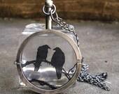 Raven Locket-  Sterling Silver Handmade- Nevermore- First Installment for Hahamoo