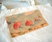 Cotton Market Tote   ..Chinese Lanterns...Original Painting and Illustration