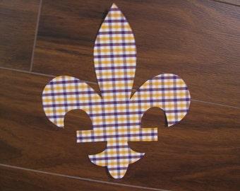 Fleur De Lis Iron On Applique, You Choose Fabric