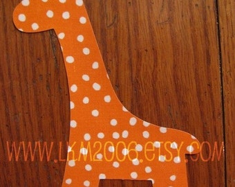 Giraffe Iron On Applique, You Choose Fabric