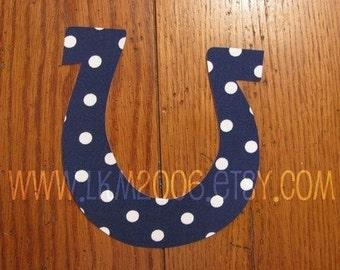 Horseshoe Iron On Applique, You Choose Fabric