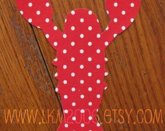 Lobster Iron On Applique, You Choose Fabric