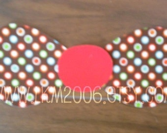 Bowtie Iron On Applique, You Choose Fabric