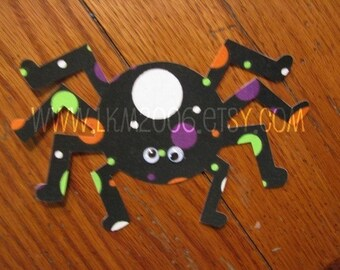 Halloween Spider Iron On Applique, You Choose Fabric