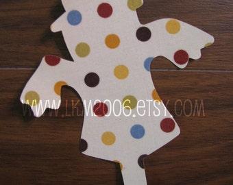 Scarecrow Iron On Applique, You Choose Fabric