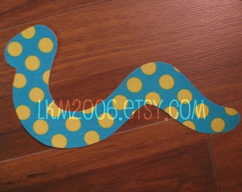 Snake Iron On Applique, You Choose Fabric