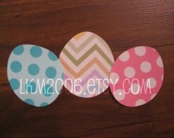 Easter Egg Trio Iron On Applique, You Choose Fabric