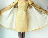 r e s e r v e d....50's Vintage Gold Taffeta Backless Wiggle Dress With Bow and Swing Jacket with Wide Collar