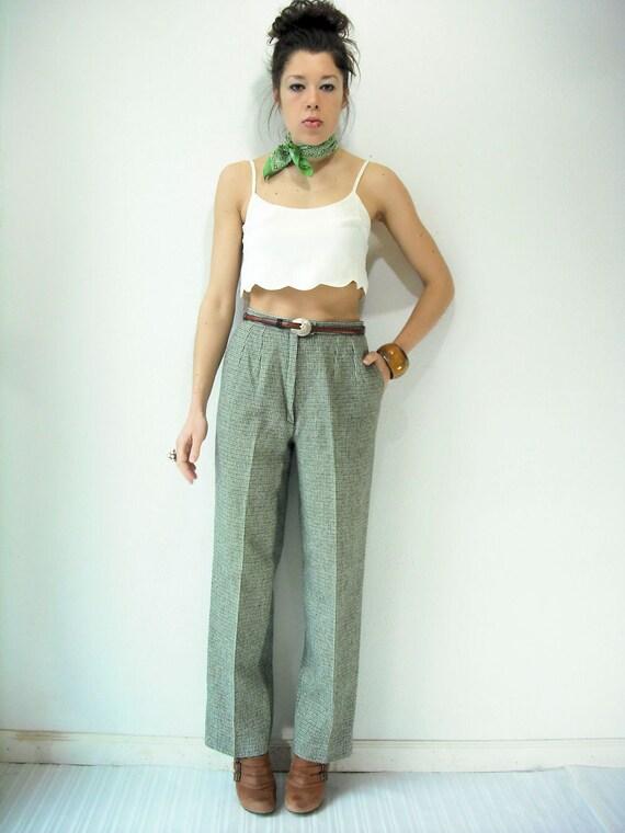 70's Vintage Wool Tweed Pendleton High Waist Pants