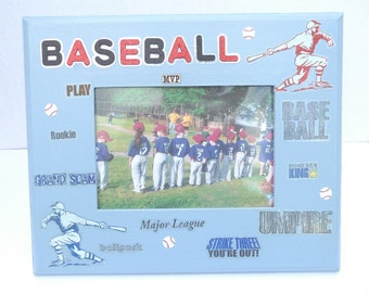 Baseball Picture Frame Blue Game Day