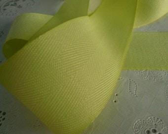 Pastel Key Lime Green Twill Ribbon (2)