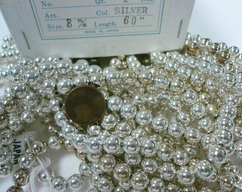 Vintage  8mm Silver Plated Beads Lot 009