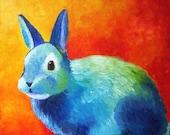 SALE- Paulie Rabbit - Original oil painting