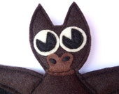 Bat Certified Organic Catnip CAT TOY -Handmade with Eco Felt
