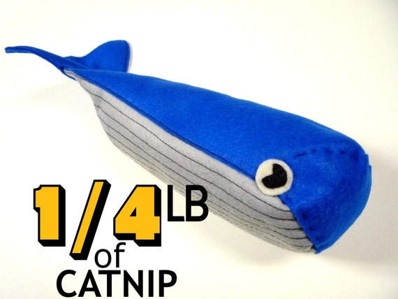 Foot Long Whale Organic Catnip toy -as seen on ANIMAL PLANET