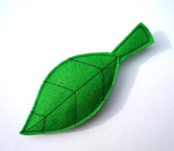 Eco Leaf Organic Catnip toy -Handmade with Eco Felt