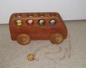 Animated School Bus Pull Toy