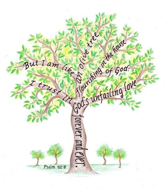 Olive Tree Scripture Art