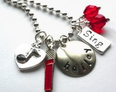Hand Stamped I LOVE TO Sing Personalized Charm Necklace