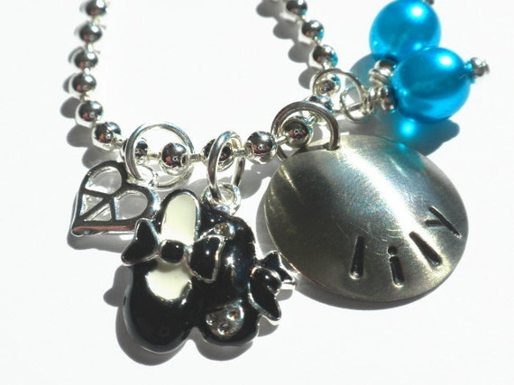 Hand Stamped Personalized TAP JAZZ DANCE Charm Necklace for Children