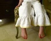 Ruffled pant, vintage chenille, size 5
