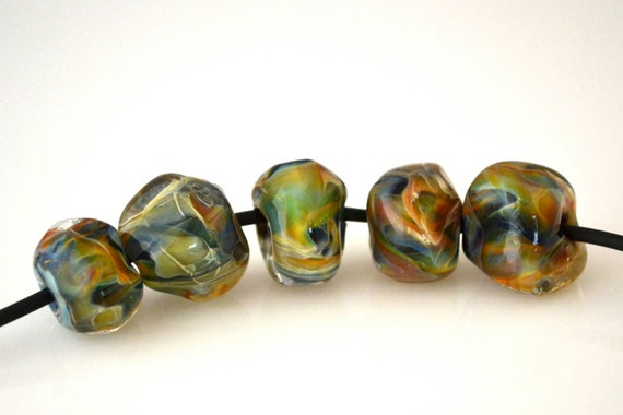 Boro Lampwork Glass Rocks - Magic Rocks (5)
