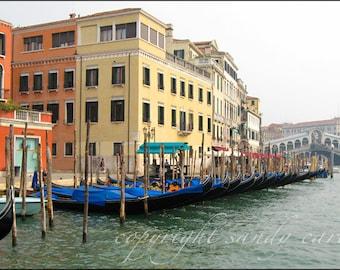 Gondolas by the Rialto Bridge Fine Art Photograph