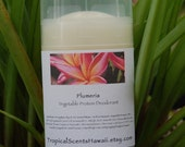 Hawaiian Plumeria Vegetable Protein Deodorant Stick 2.4 oz.