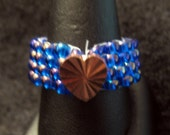 Copper Heart Thumb Ring