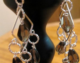 Smoky Elegance Chandelier Earrings