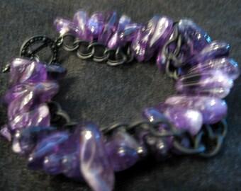 Amethyst Edge Bracelet