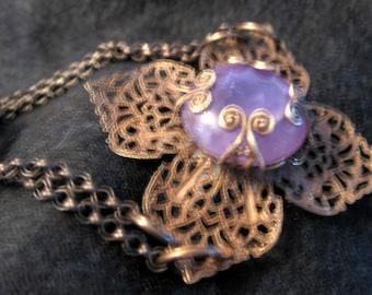 Amethyst  Filigree Chain Bracelet