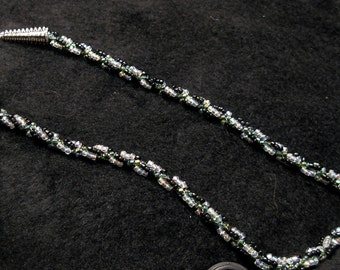 Delicate Beaded and Swirled Necklace