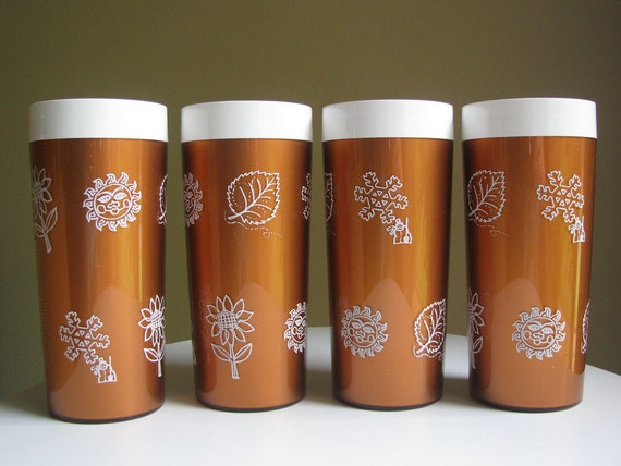 Vintage West Bend Thermo-Serve Tumblers Set of Four