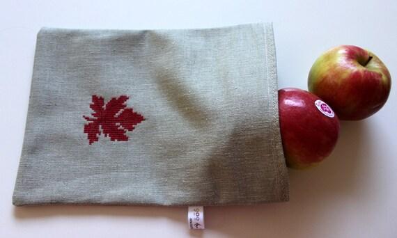 Reusable Snack Bag hand embroidered