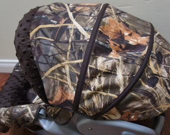Graco snugride 32/35 safeseat chicco keyfit 30 car seat cover max 4HD/max 5 camo brown minky dots