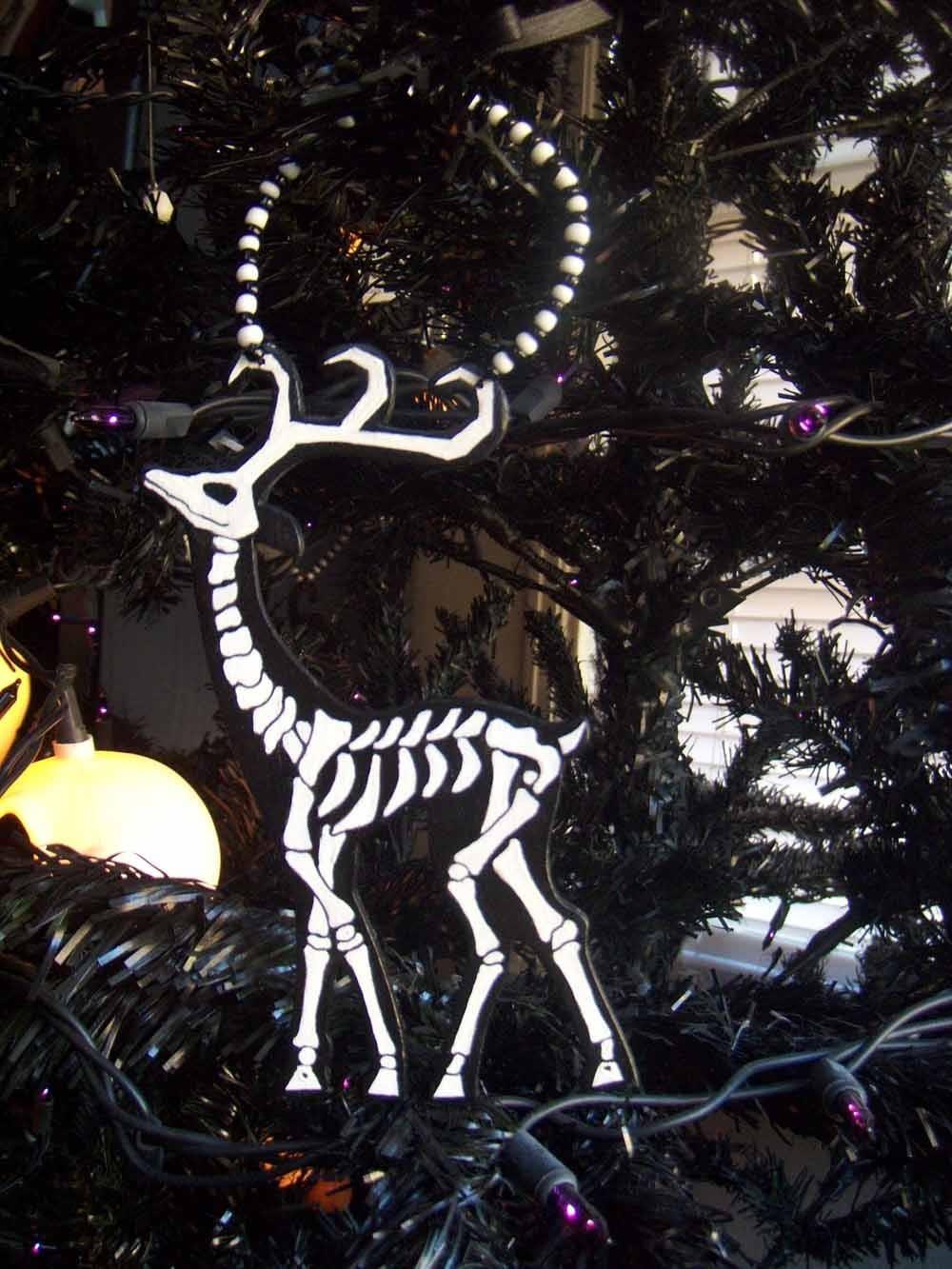 Skeleton Reindeer Ornament