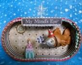 OOAK Birthday Wish Fish in Vintage Tin.