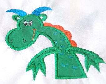 Green Dragon Embroidered Applique Patch