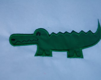 Alligator Embroidered Applique Patch, Alligator Iron On Patch