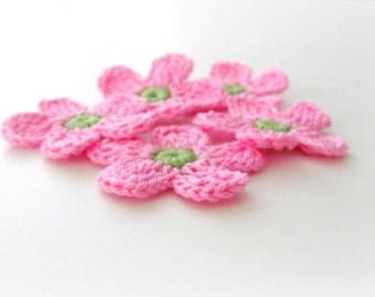 Fairytale Crochet Flowers5 pieces