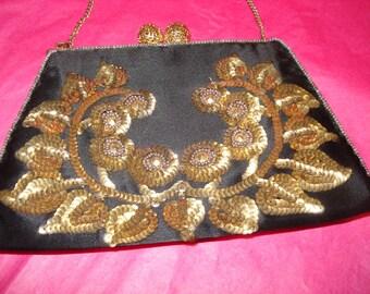 Vintage French Sequined Evening Bag