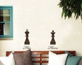 Royal His and Hers - Chess pieces - Wall Decals
