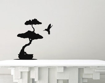 Bonsai Tree with Hummingbird - MiniPack Vinyl Wall Decals