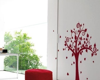 Happy Tree MonoColour - Large Tree Vinyl Wall Decal
