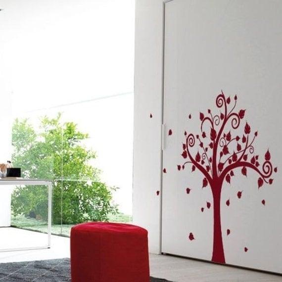 Happy Tree MonoColour - Large Tree Vinyl Wall Decal